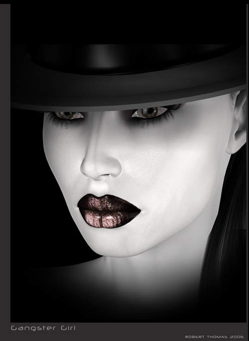 Gangster Girl Wallpaper Gangster girl by robertt 500x686