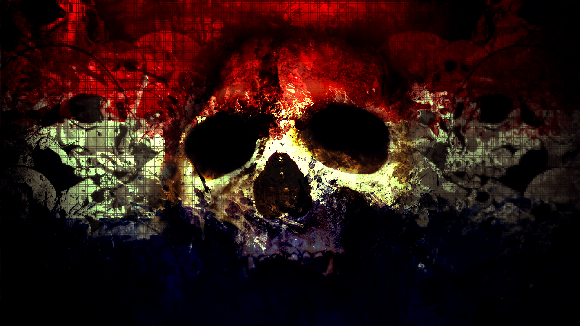 Skull Wallpaper Art Background 1920x1080