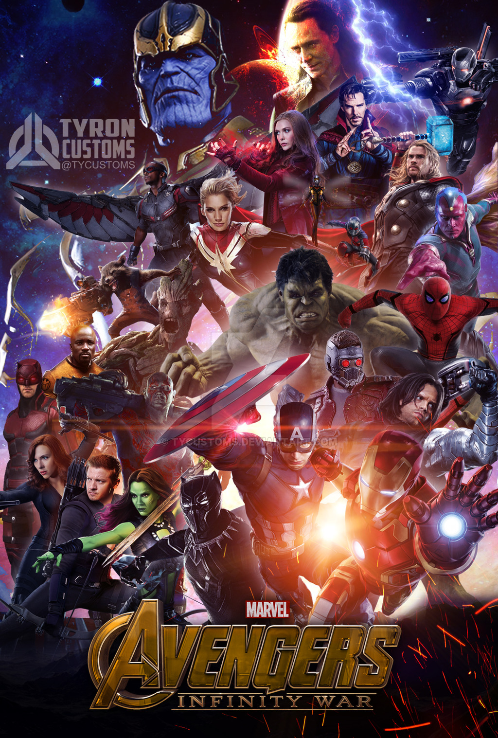 Infinity war textless movie poster