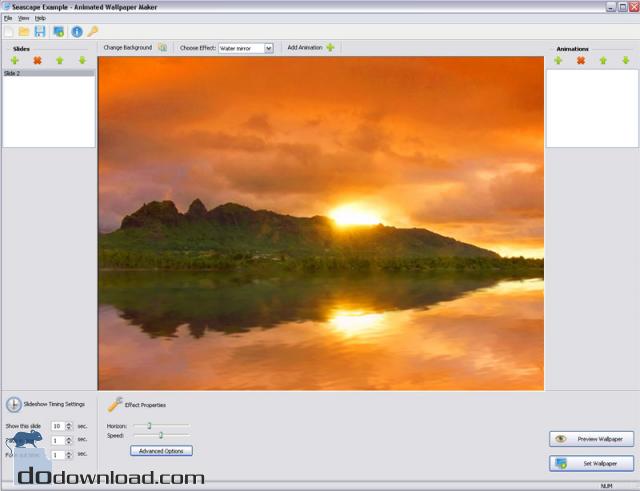 Wallpaper Maker image Beautiful animated background for desktop 640x491