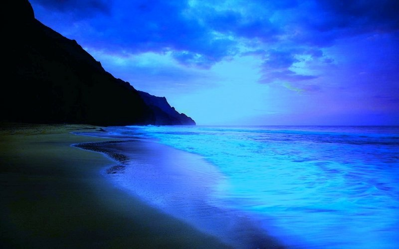 beach blue sky beach at night Nature Beaches HD Desktop Wallpaper 800x500