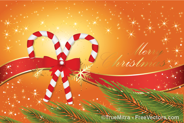 Candy Cane Christmas Background vector Vector Graphics 600x401