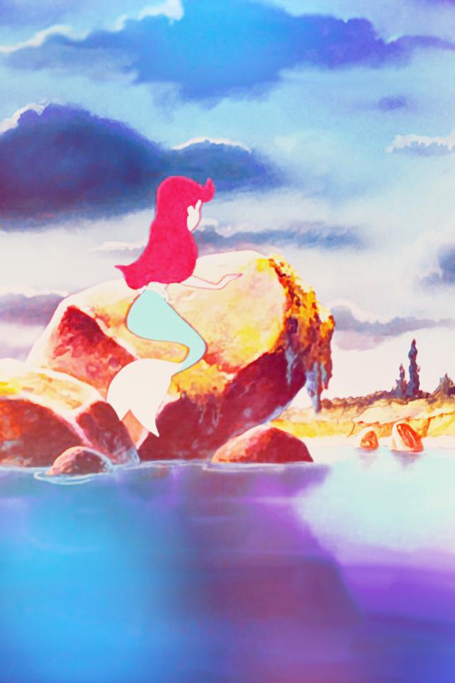 Little Mermaid Wallpaper iPhone  WallpaperSafari