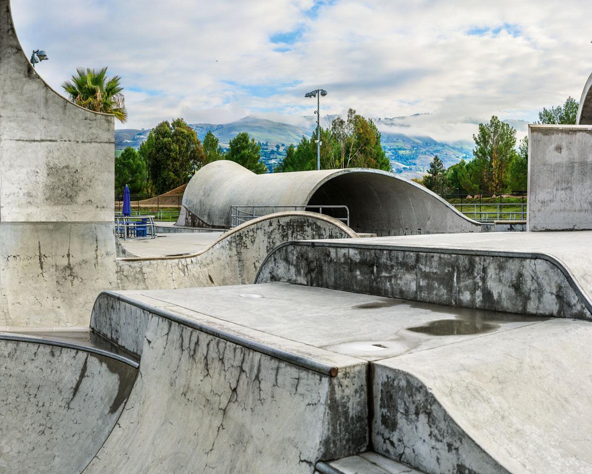 Californias concrete skateparks photographed by Amir Zaki 1180x944