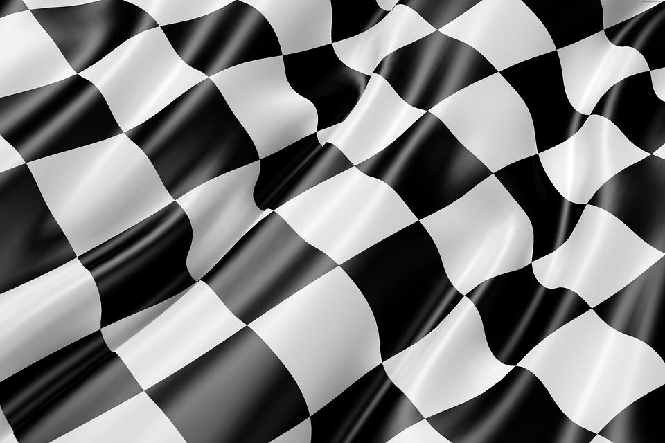 Race Track Flag Black And   image on Pixabay 960x640