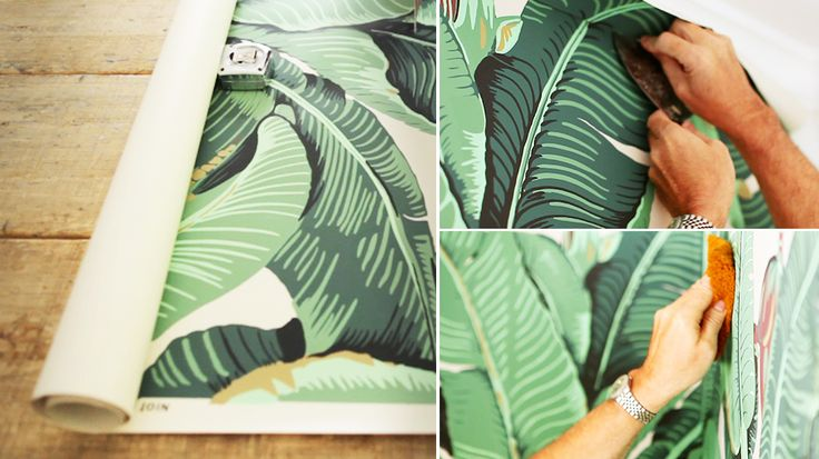 How to Hang Wallpaper Starring the Iconic Banana Leaf PatternBananas 736x413
