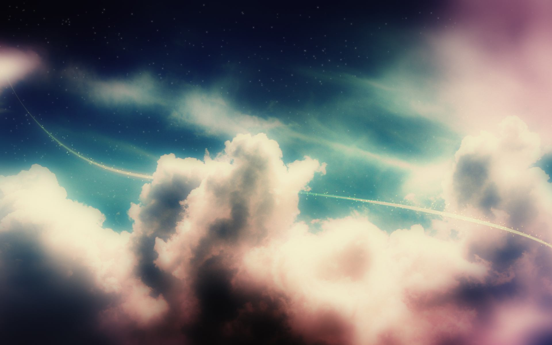 Vintage Clouds   Cool Twitter Backgrounds 1920x1200