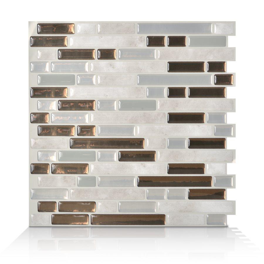 10 x 10 Bellagio Grigio Peel and Stick Vinyl Mosaic Subway Wall Tile 900x900