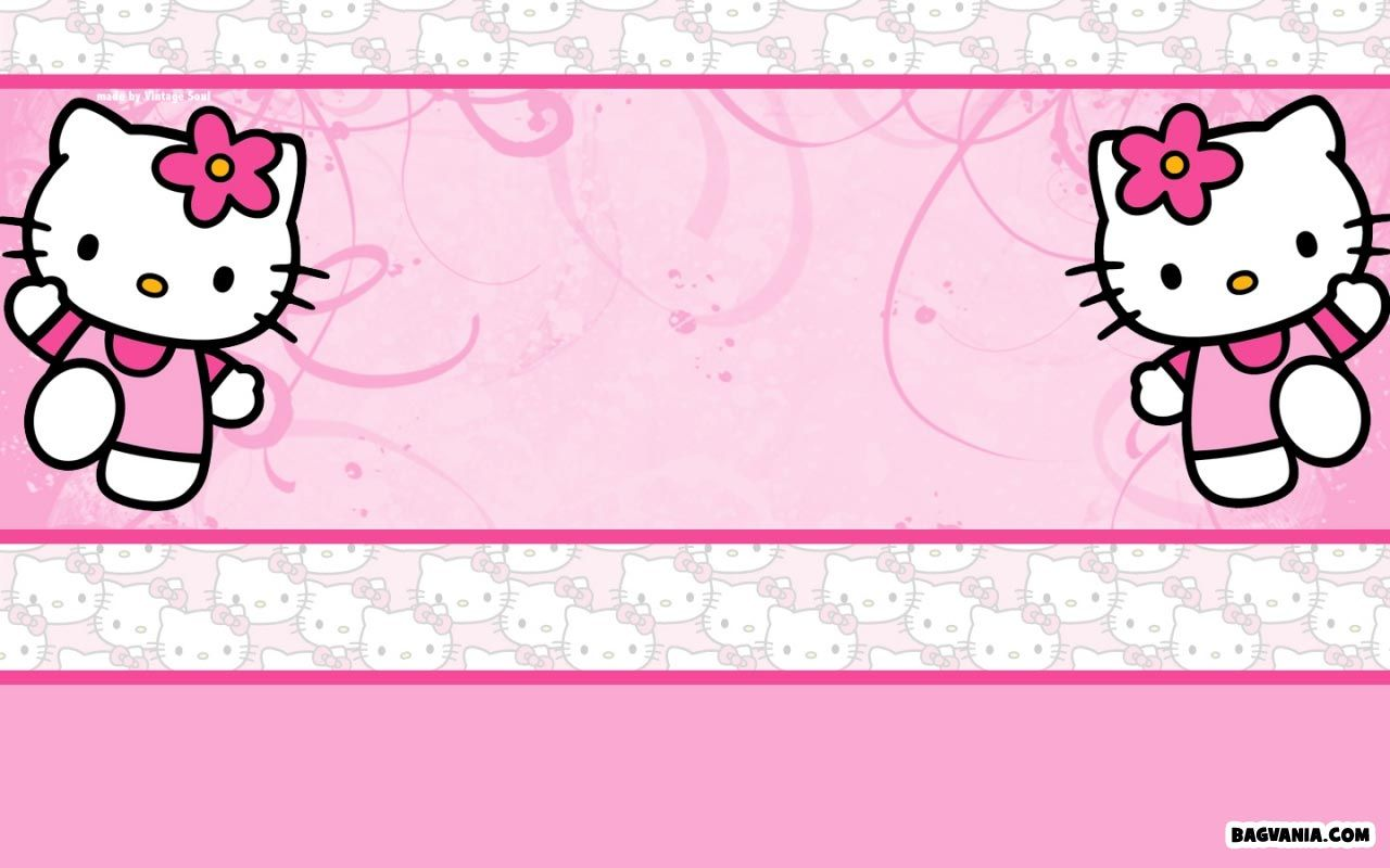 Printable Hello Kitty Birthday Invitations Bagvania FREE 1280x800