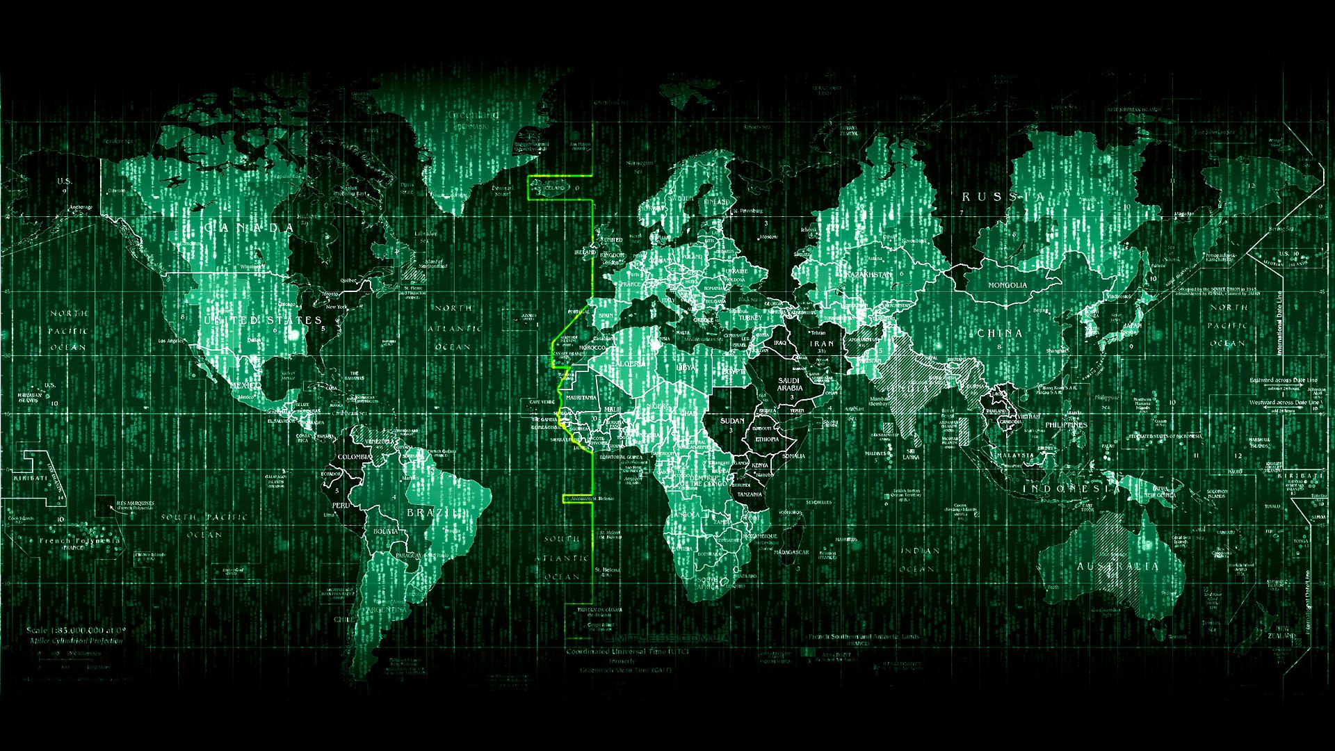 World map 1920x1080