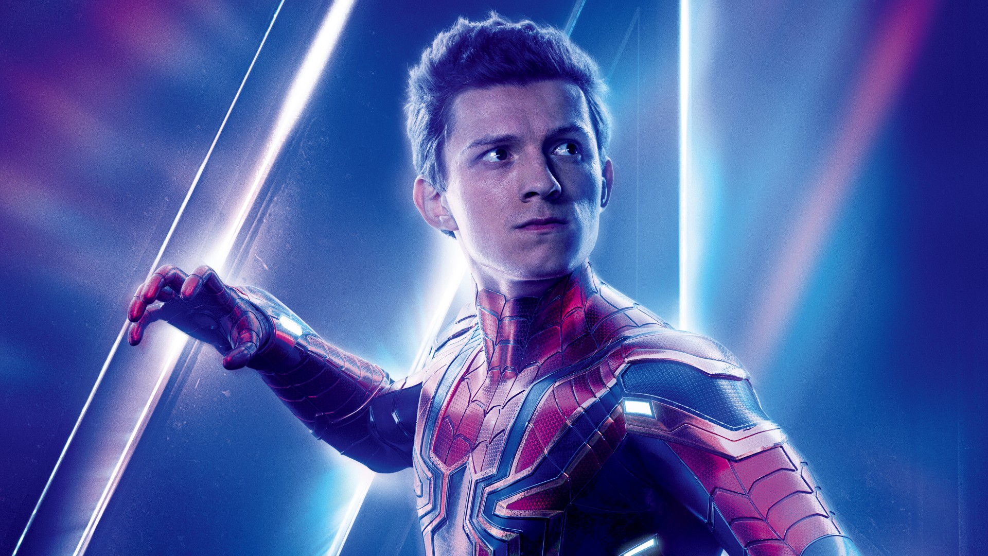 Tom Holland As Spiderman In Avengers Infinity War Download 1920x1080
