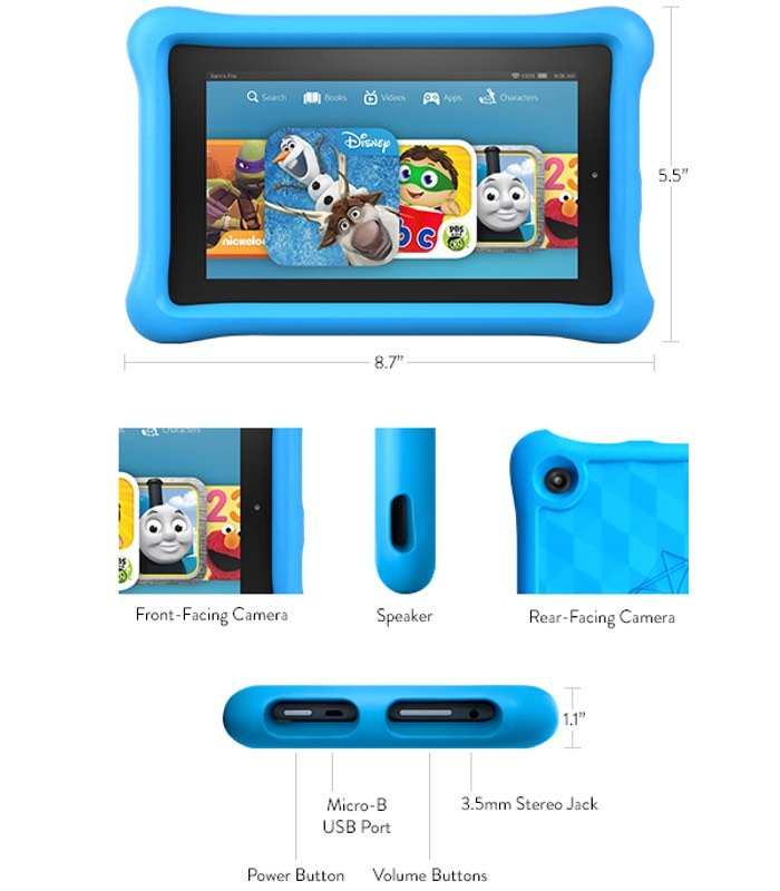 Not a toy a full featured Fire tablet with a 7 IPS display and 700x800