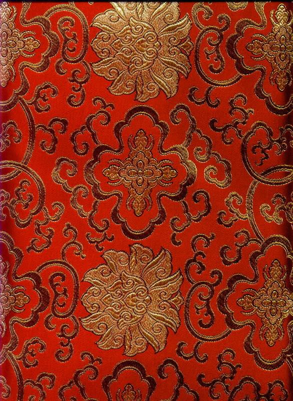 Oriental Redgold Flower Print Wallpaper Oriental Redgold Flower 586x800