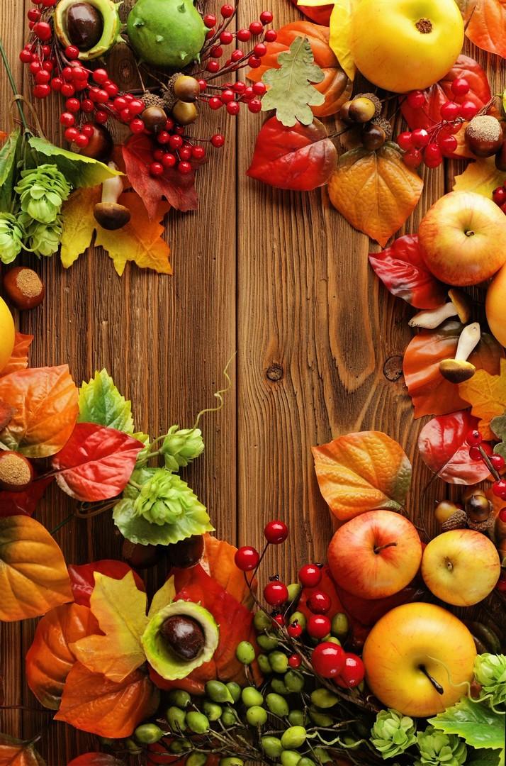 Autumn Wooden Fruits Wallpaper iPhone 2020 3D iPhone Wallpaper 714x1080