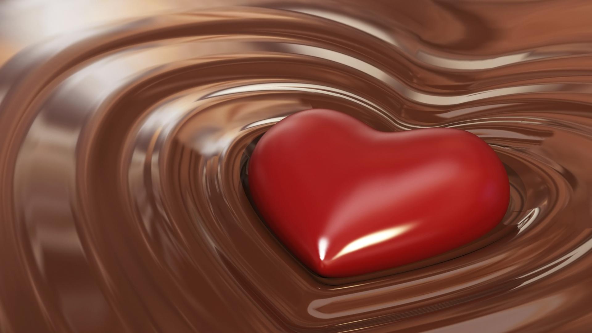 Chocolate Heart HD Wallpaper of Love   hdwallpaper2013com 1920x1080