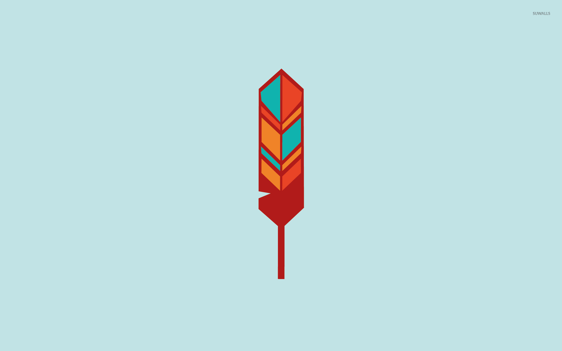 Indian feather wallpaper   Minimalistic wallpapers   14547 1920x1200