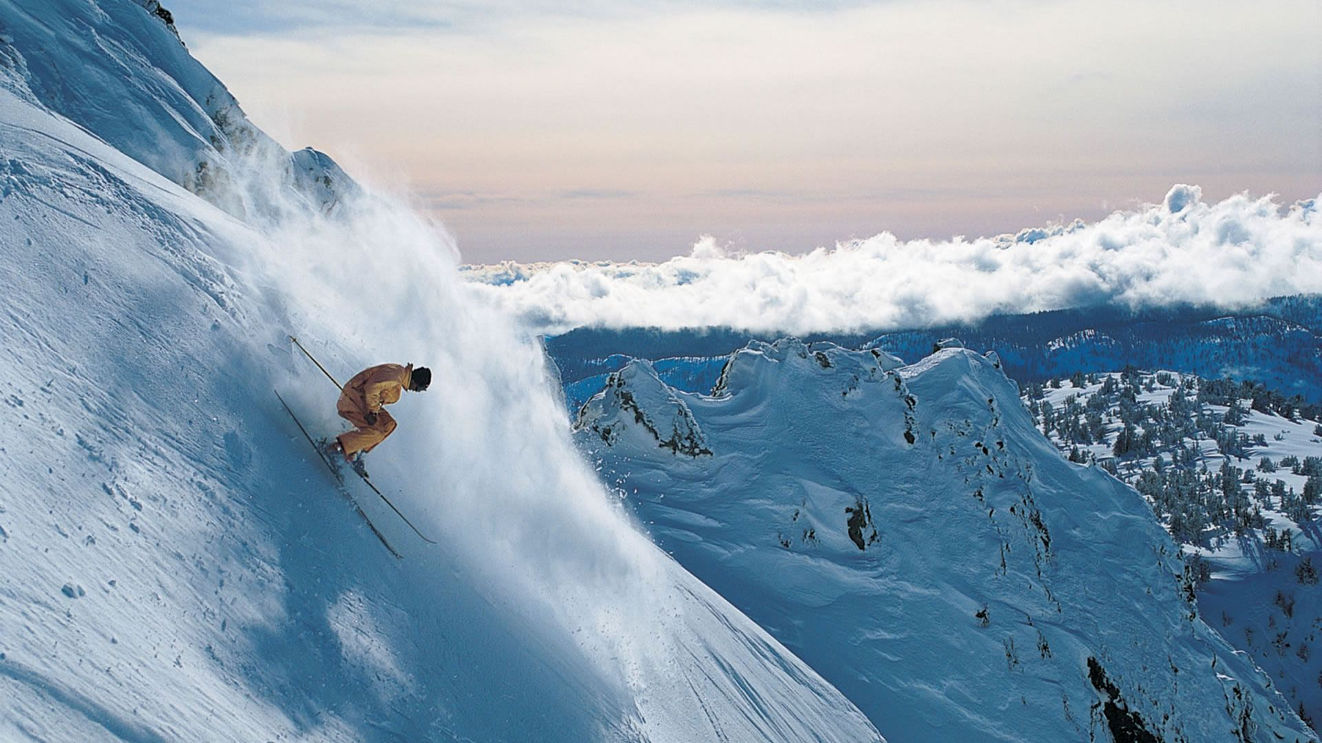 48 powder skiing wallpaper on wallpapersafari - Ski wallpaper ...