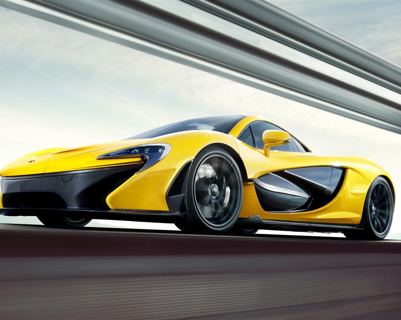 2013 McLaren P1 gelbe supercar Hintergrundbilder 1280x1024 1280x1024