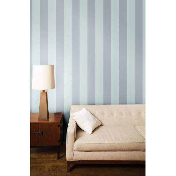 Home \ Wall Decor \ Wallpaper \ Stripe Cotton Blue Removable Wallpaper 600x600