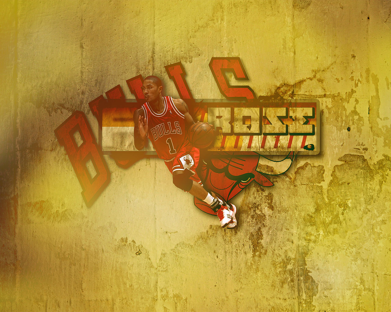 derrick rose bulls wallpaper 1280x1024