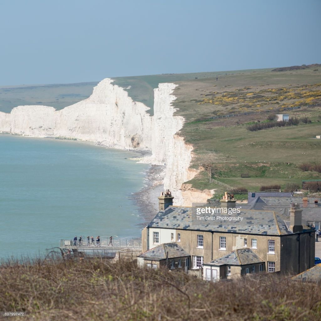 Birling Gap with the Seven Sisters chalk cliffs in the background 1024x1024
