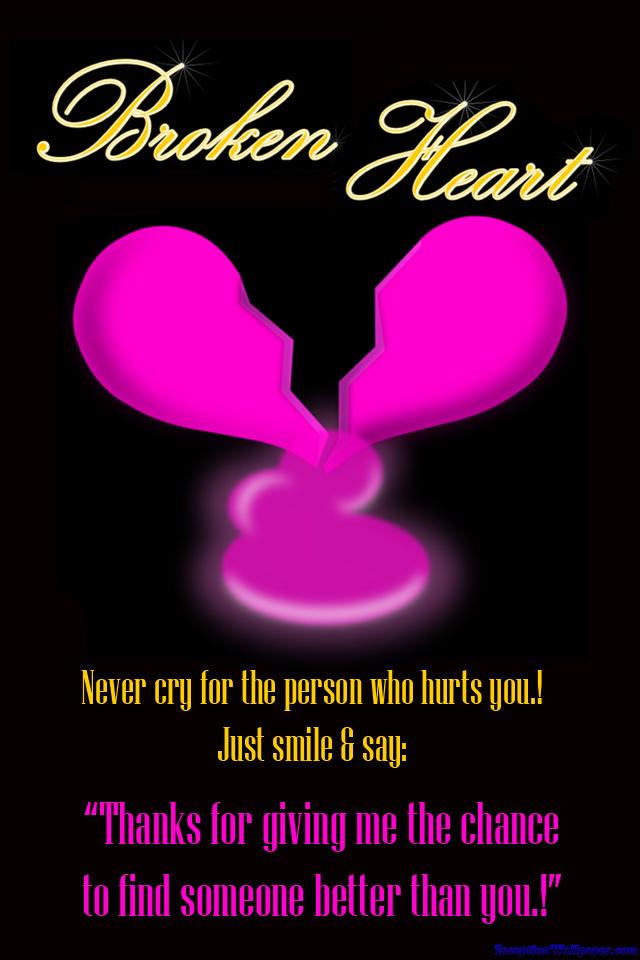 Broken Heart Quotes IPhone Wallpaper Gallery Photo 640x960