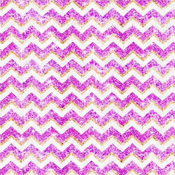 Chevron Pattern Girly Gold Purple Pink Glitter photo Art Print by 600x600