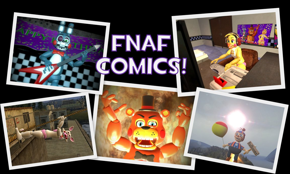 FNaF COMICS OFFICIAL WALLPAPER 2 by seanscomics 1153x692