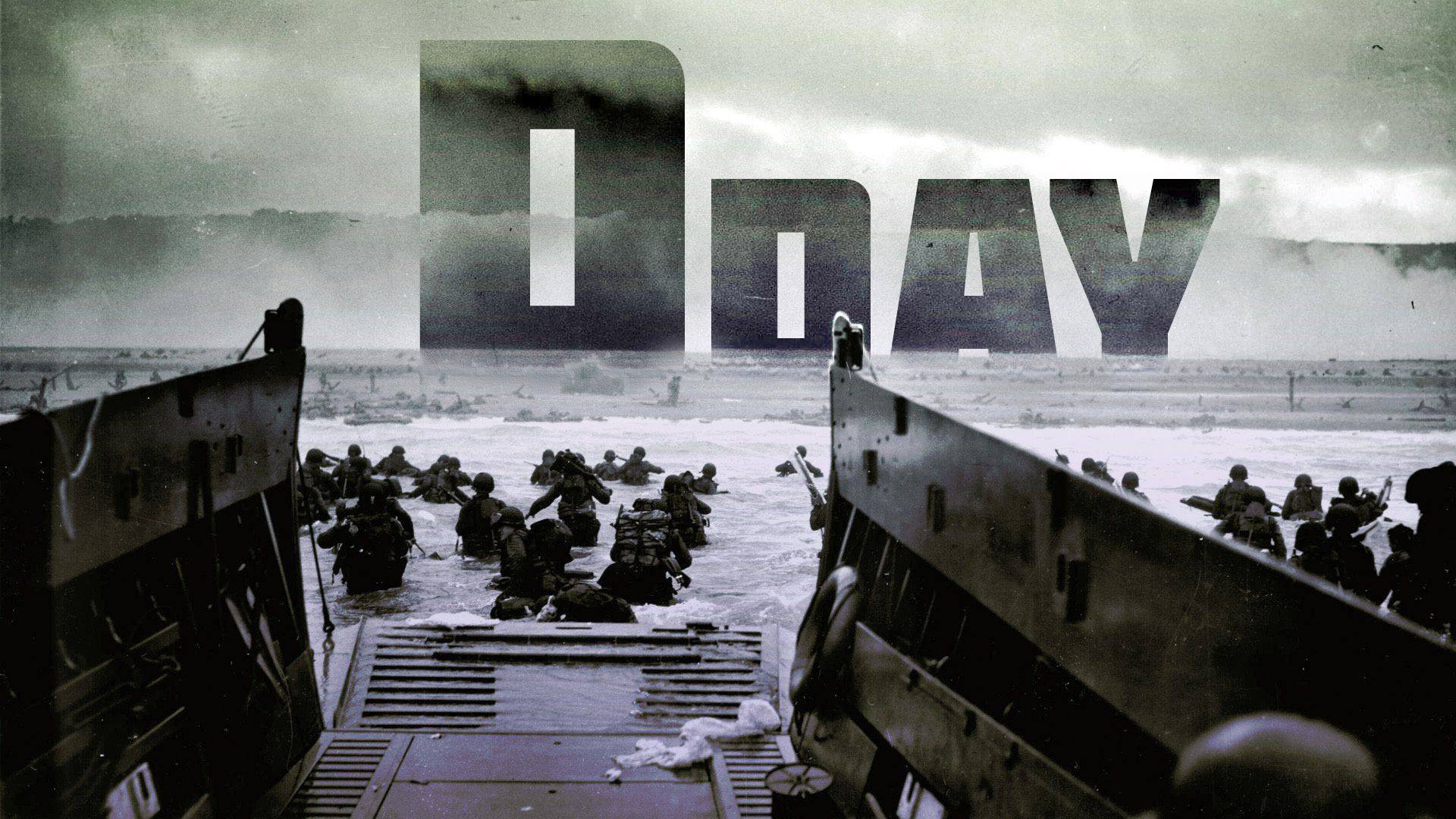 Beach of Normandy D Day with text [1920x1080] wallpapers 1920x1080