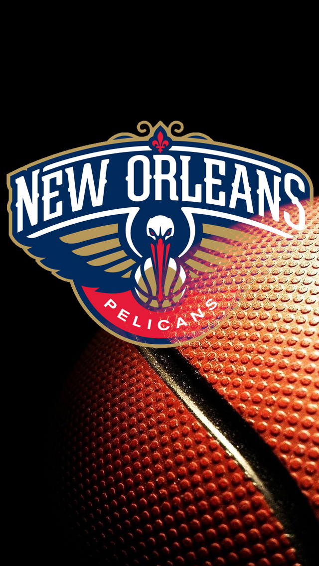 Download New Orleans Pelicans Logo Iphone 5 Wallpaper 640x1136
