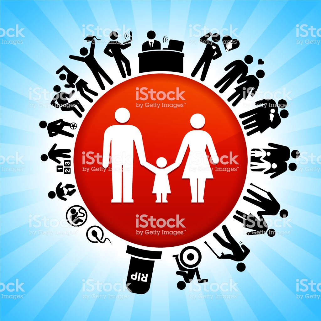 Parents And Daughter Lifecycle Stages Of Life Background Stock 1024x1024