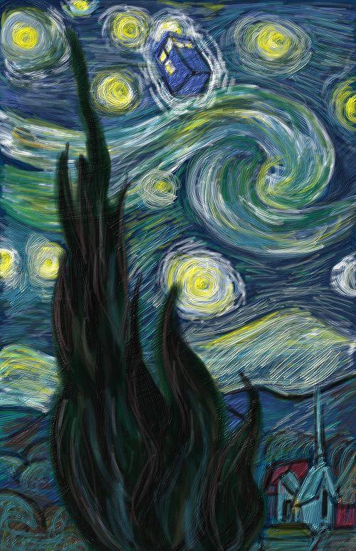 TARDIS Starry Night by msgabc on DeviantArt