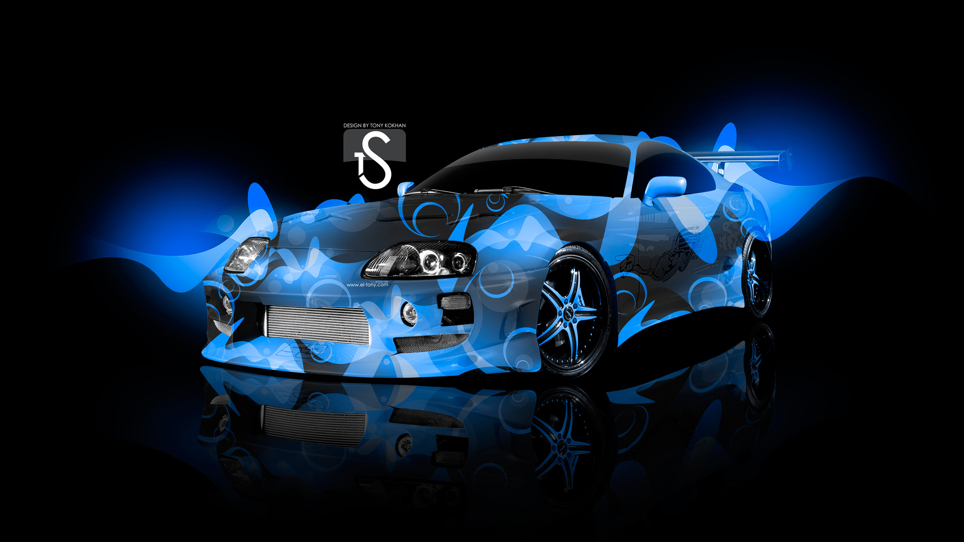 1920x1080 Toyota Supra Sweet Abstract Car 2013 Blue HD Wallpapers Design By Tony  .