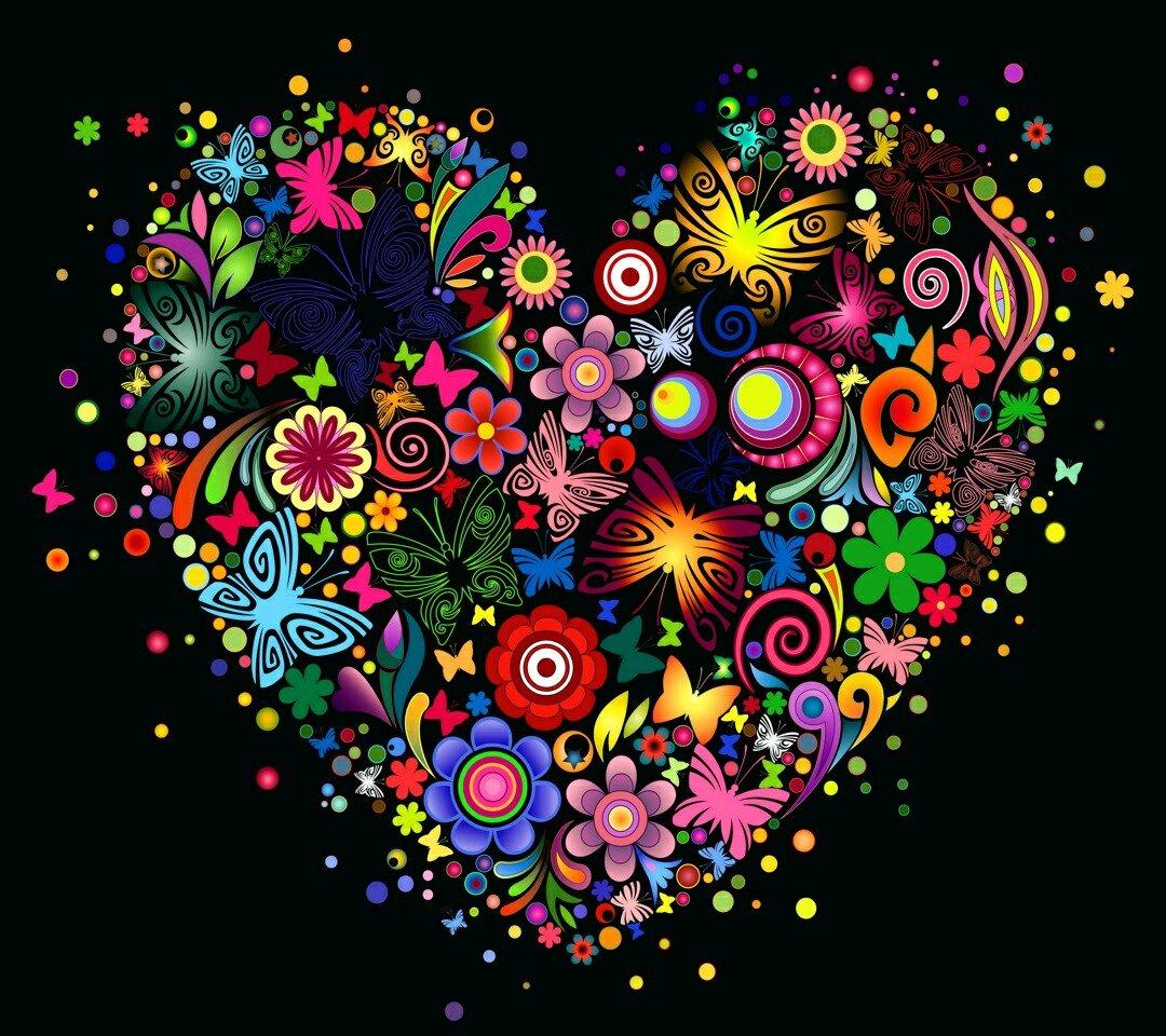 [69+] Pretty Heart Backgrounds On WallpaperSafari