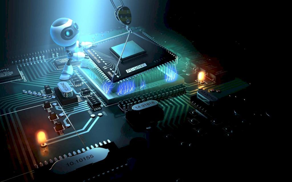 robot circuits computer technology desktop 1680x1050 hd wallpaper 1024x640