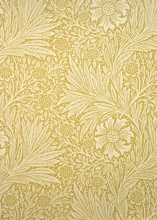 Marigold Wallpaper A two tone yellow floral and leaf wallpaper circa 534x749