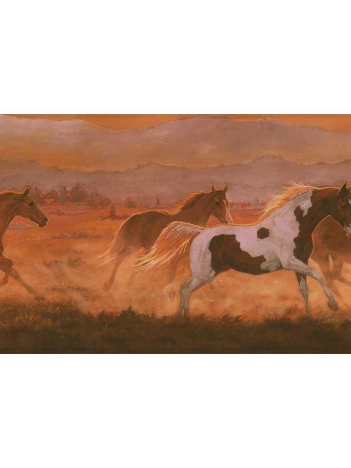 Wild Horses Sunset Wallpaper Border IN2632B Ranch Western Decor 720x960