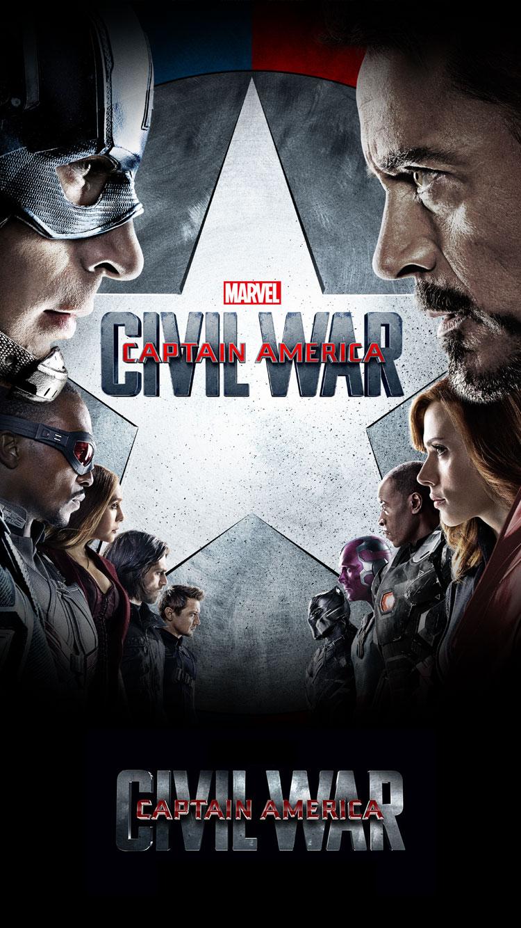 Marvels Captain America Civil War 2016 iPhone Desktop 750x1334