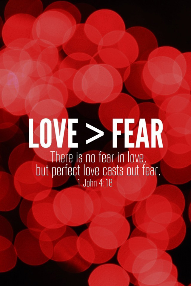 love is there is no fear because god s perfect love drives out fear 640x960