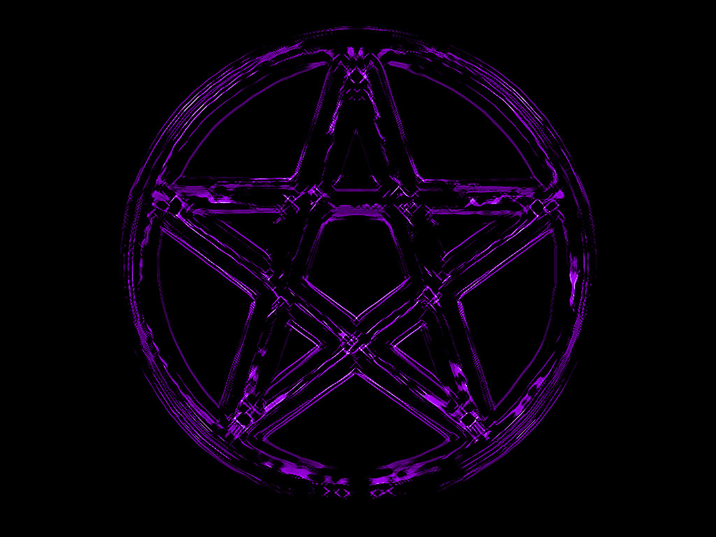 Pentacle Wallpaper Purple pentacle by ulfhednin 1024x768