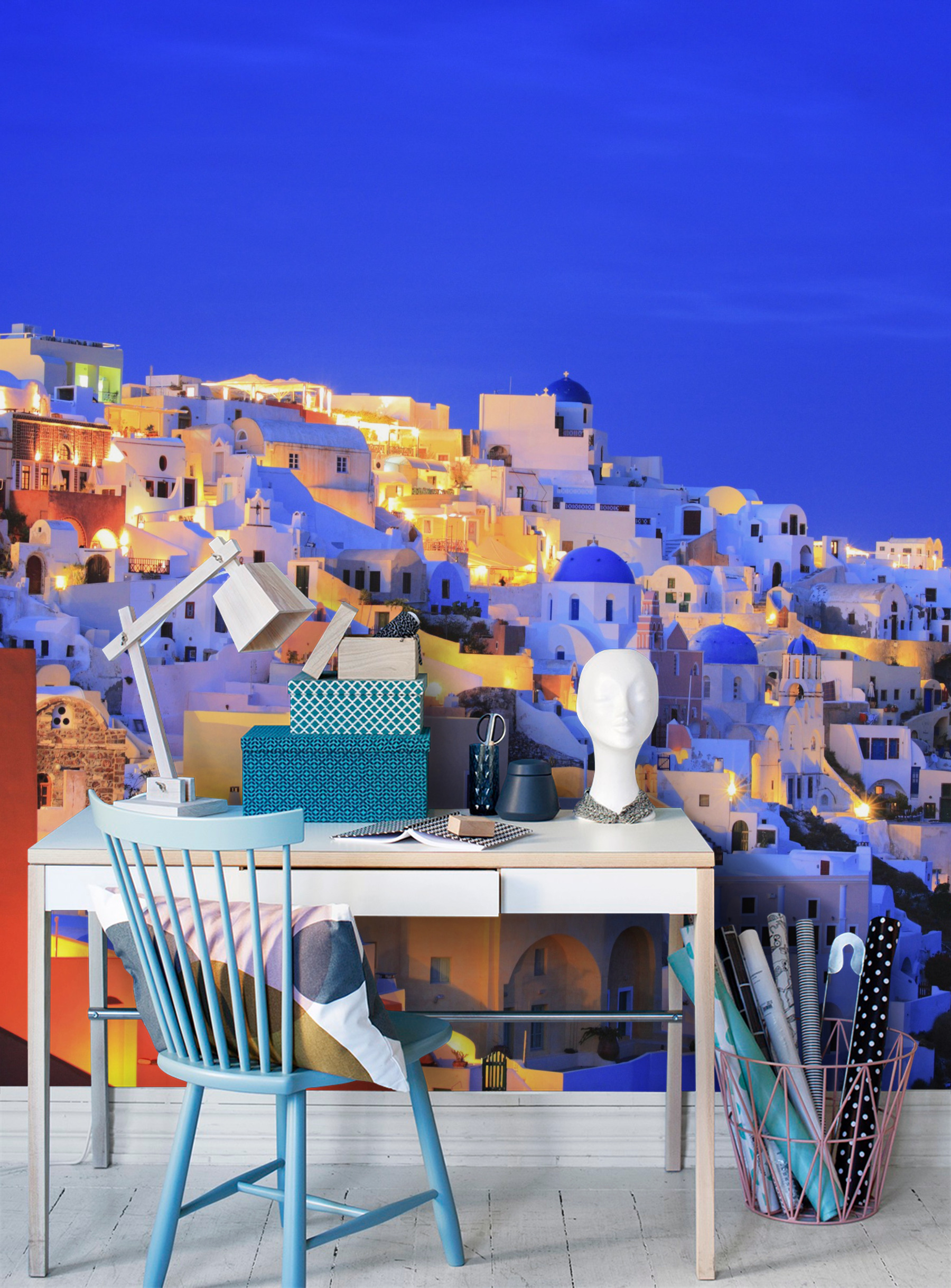 Santorini wall mural Photo wallpaper Greece Island 1800x2437