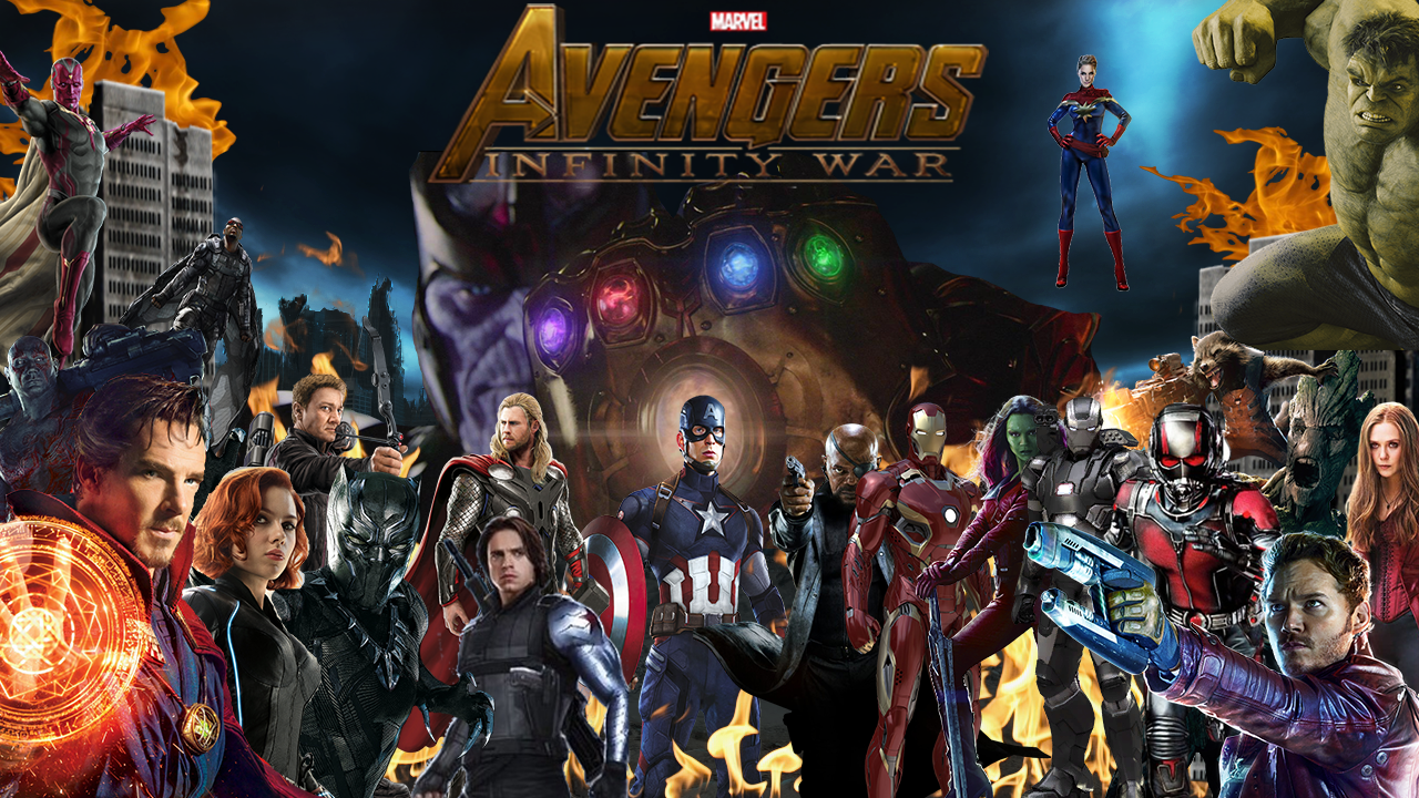 Free download Infinity War poster by TheMarionick [1280x720] for