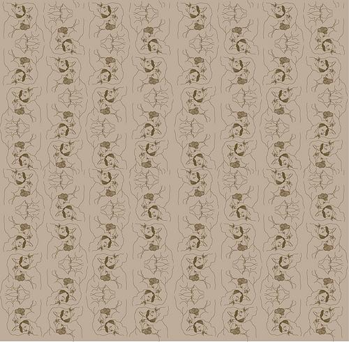 gay couple flocked wallpaper pattern Explore inkblotz08s 500x491