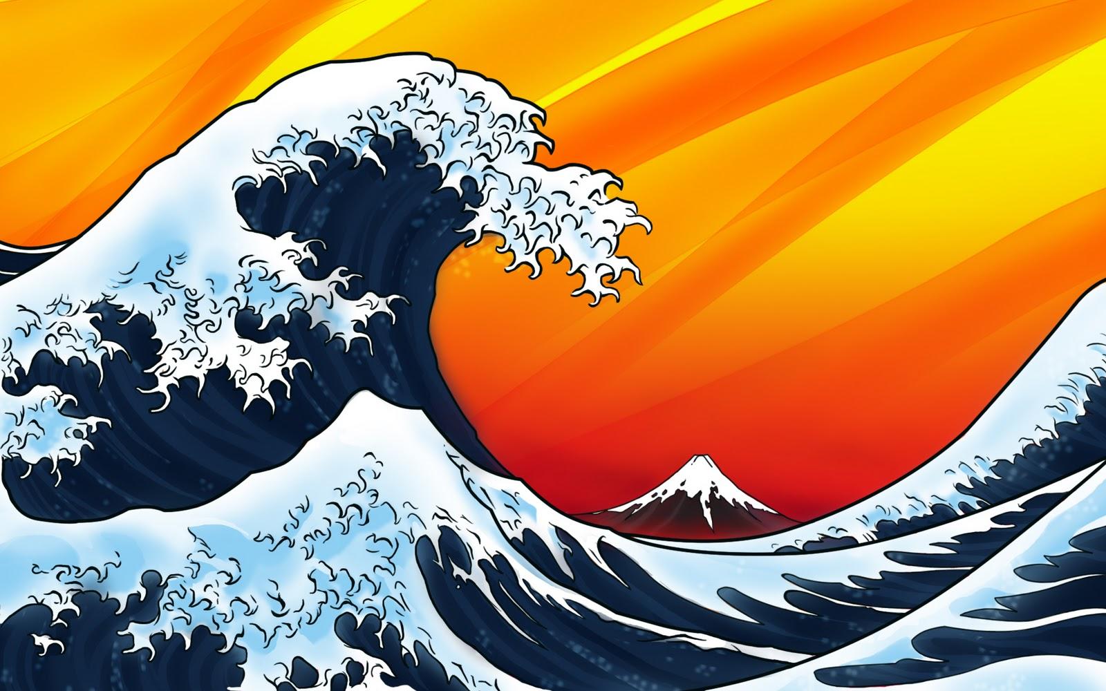 the great wave ukiyo e wallpaper japanese rice field wallpaper 1600x1000