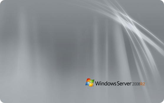 Windows Server 2008 R2 wallpaper with black logo 19201200 556x348