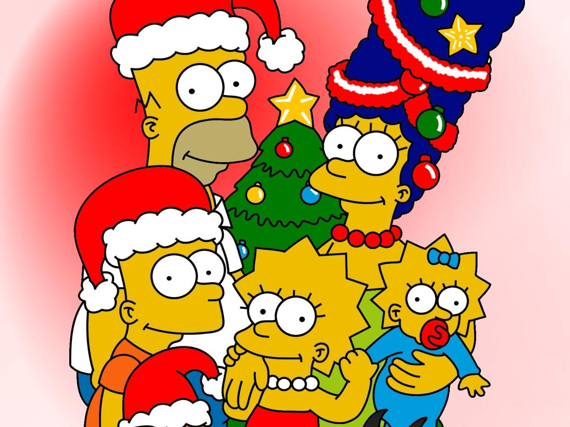 Pics Photos   Simpsons Christmas Wallpaper Simpsons 1152x864