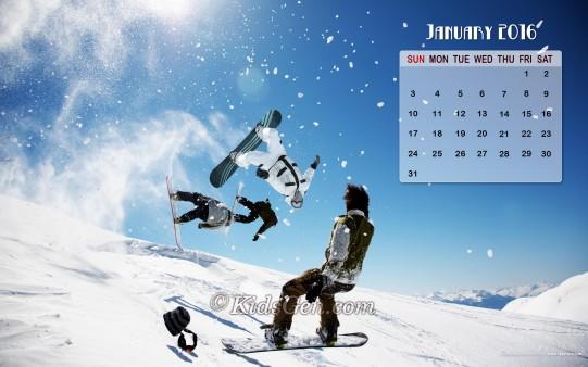 January Calendar Wallpaper 2016   Kidsgen Wallpaper 541x338