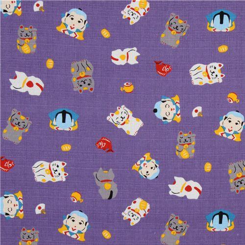Maneki Neko Background Cat maneki neko purple 3 500x500