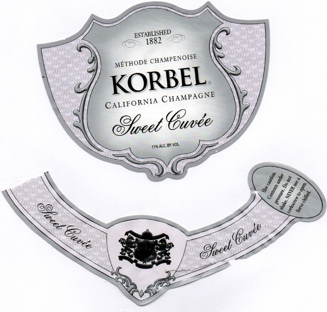 Korbel champagne label HF Champagne label Korbel champagne 1109x1057