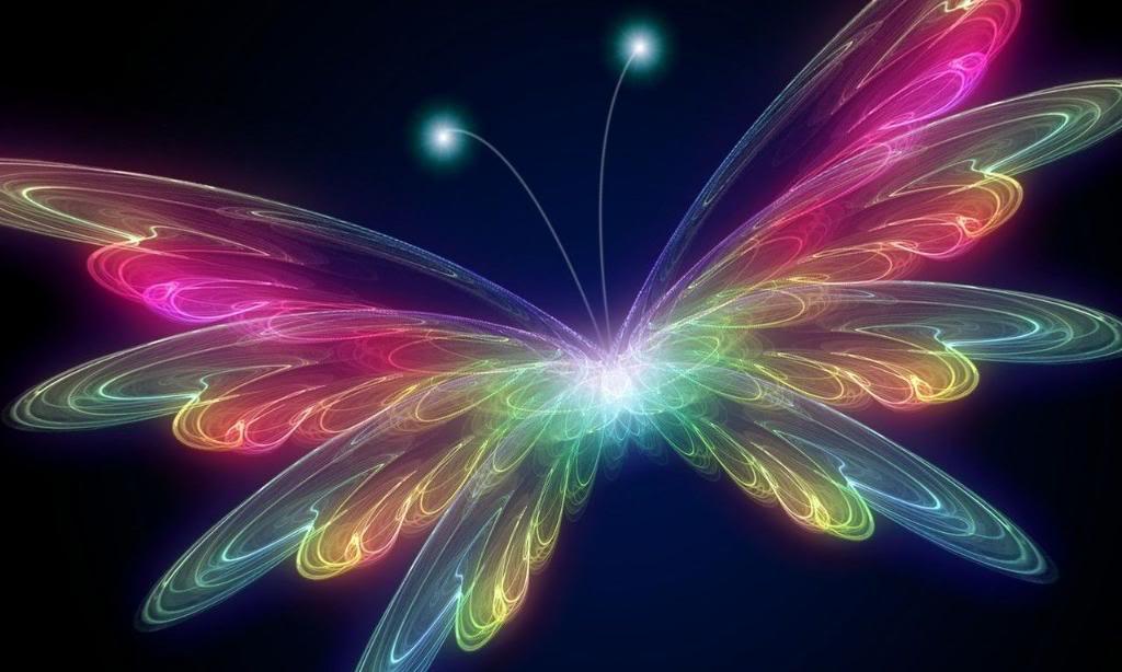 Fiber Optic Butterfly Wallpaper Fiber Optic Butterfly Desktop 1024x614